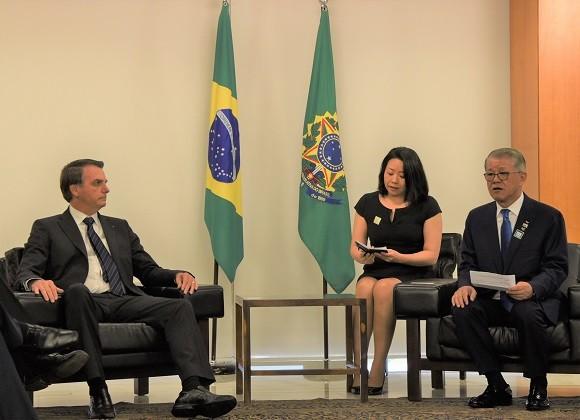 SK네트웍스 최신원 회장, 브라질 대통령 접견-민간외교관으로 양국 간 협력 강화 위해 환담